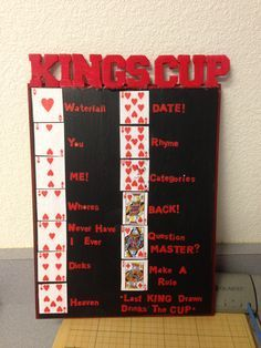 Kings cup rules ... Drinking game! Fun times!