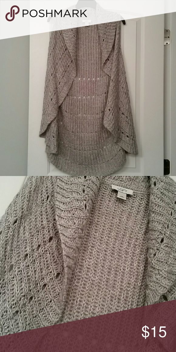 Beautiful sleeveless sweater Gray knit sleeveless sweater 71% Acrylic, 29%wool LOFT Sweaters Shrugs & Ponchos