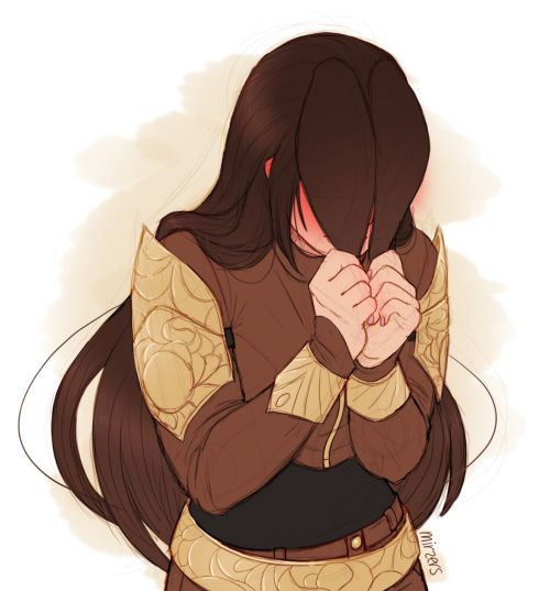 Velvet looks so sweet when she's embarrassed.