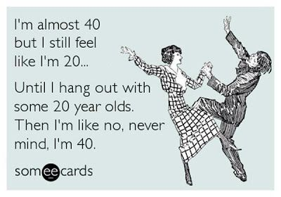 Absolutely...im 35 went to a wedding saturday . I was the oldest person there other than    the older family like parents grandparents etc. And it hit WTF when did happe