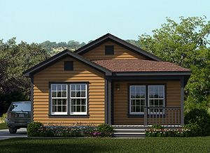If you live in Texas, consider asking your Palm Harbor dealer if they have this new Celina modular option starting from the $90's (see disclaimer on website) - Exterior
