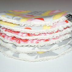 Disques à démaquiller lavables en coton bio imprimé