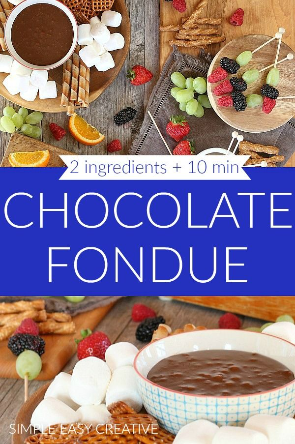 Chocolate Fondue 2 Ingredients 10 Minutes Chocolatefondue Chocolatefonduerecipe Chocolatefo Chocolate Fondue Easy Holiday Snacks Chocolate Fondue Recipe
