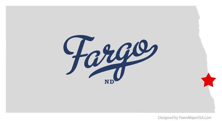 map of fargo north dakota nd
