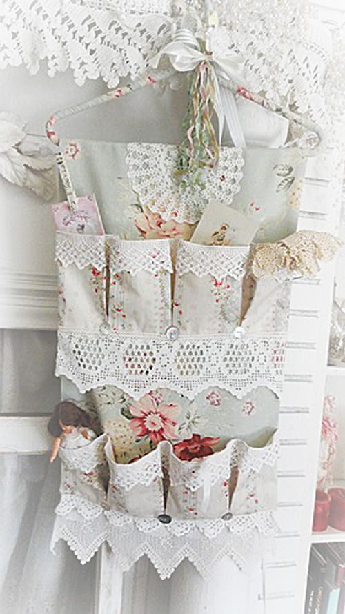 Sweet & Chic Shoe & Wall Organizer* Roses & Lace