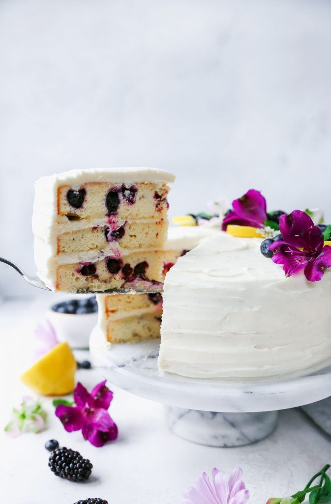 Lemon Blueberry Layer Cake With Cream Cheese Frosting Recipe Hazelnut Cake Yoghurt Cake Savoury Cake
