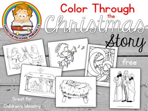 Color Through The Christmas Story FREE Bible Printables