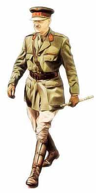 Belgique - Colonel-brigadier, 1940 Le grade de Colonel-brigadier, spécifique de l'armée belge, est placé immédiatement au dessus du colonel et s'en distingue par le bandeau rouge de casquette. L'uniforme, très similaire à celui des officiers britannique depuis 1915, ne comporte toutefois le col ouvert qu'à partir de 1935. Chef de corps du 1er régiment d'infanterie, cet officier en porte toutes les distinctives: pattes de collet rouges à passepoil bleu, couronne sur la casquette (surmontée de…