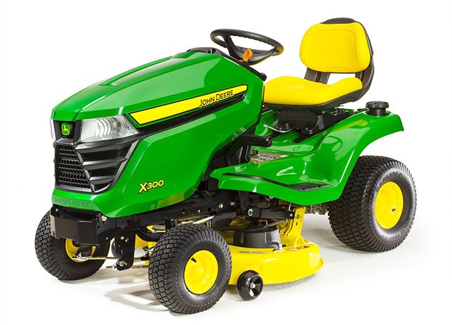 John Deere X300 with 42-in. Deck Lawn Tractor | JohnDeere.com My dream machine...!