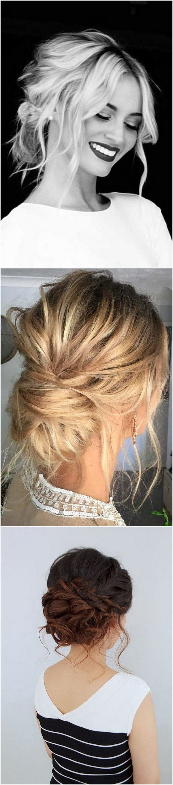 awesome Updos Bridal Hairstyles for Medium Length Hair #MessyHairstylesMedium