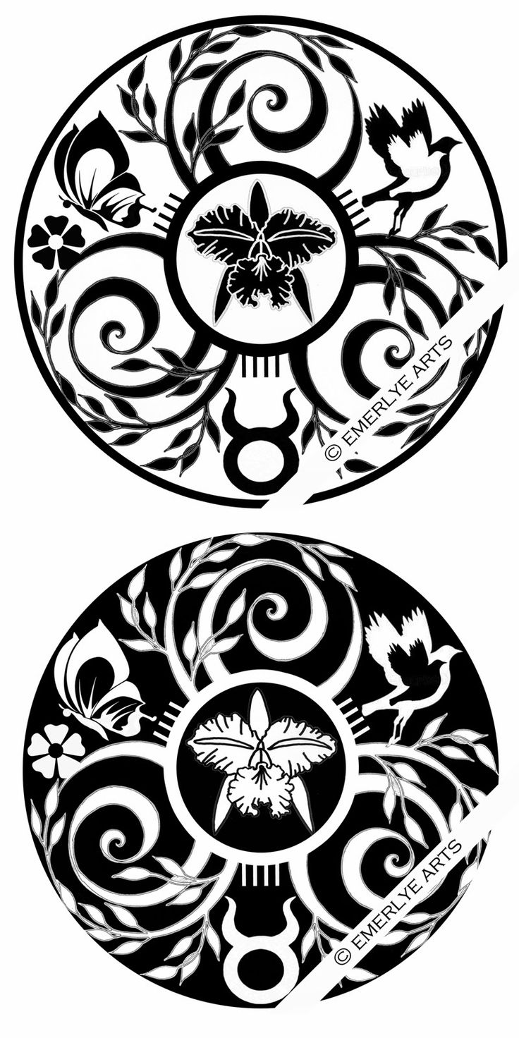 A Custom Tattoo design for a woman in Colombia. See original page for explanation of symbols.