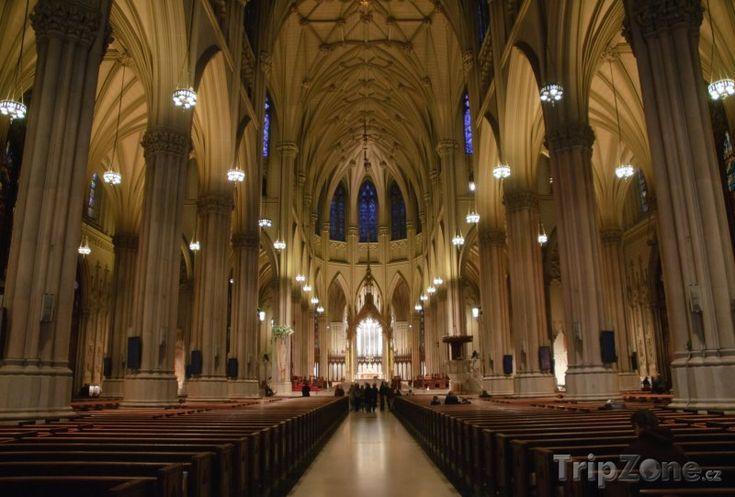 Fotka, Foto Vnitřek katedrály sv. Patrika v New Yorku (New York, USA)
