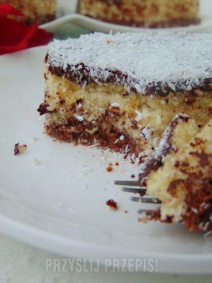 Jaglane ciasto Bounty - przyslijprzepis.pl