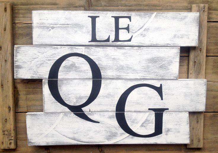 tableau personnalisable en bois de palette vintage industriel : Décorations murales par littlepalette