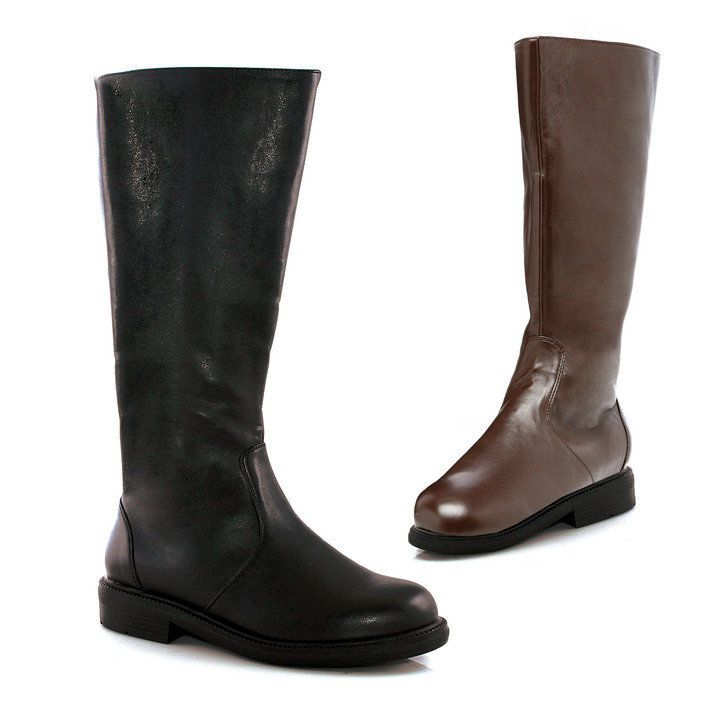 "Other : Boots;men's boots;knee high boots;Round;Man-made materials;Rubber;0.5"" Platform;1"" Heel;13"" Shaft Height;. Color Available : Black PU;Brown PU. 