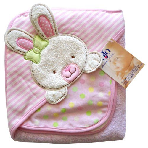 $15.99-$15.99 Baby Nojo Character Bath Collection 3D Character Applique Hooded Towel and Washcloth Set, Bunny - 3D Character Applique/ Print Interlock/ Woven Terry Hooded Towel and Washcloth Set. http://www.amazon.com/dp/B004CLYZ4A/?tag=pin2baby-20