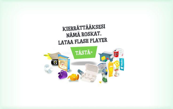 1)Kierrätyspeli 2) Paperin kiertokulku 3) Vielä yksi kierrätyspeli http://www.oppijailo.fi/index/lapsille_nuorille?nayta=pelivalikko&skip=1&peli=107