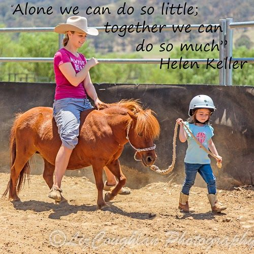 """""""Alone we can do so little; together we can do so much."""" Helen Keller"""