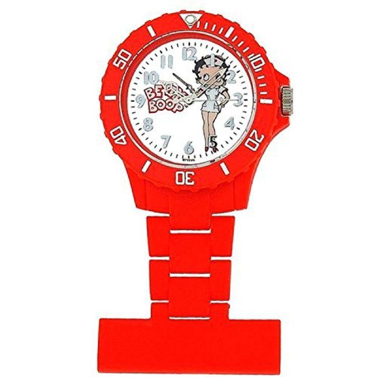 Montre Infirmière Betty Boop pour Femme Rouge au Cadran Blanc avec Image 2017 #2017, #Montresdepocheetgoussets http://montre-luxe-homme.fr/montre-infirmiere-betty-boop-pour-femme-rouge-au-cadran-blanc-avec-image-2017/