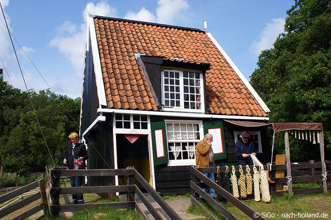 Fischerhäuschen im Nederlands Openluchtmuseum - Freilichtmuseum in Arnhem