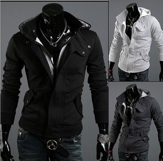 Fashion men's Hooded cardigan men's sweater men's casual jacket men's coat men Jacket on Etsy, $48.00