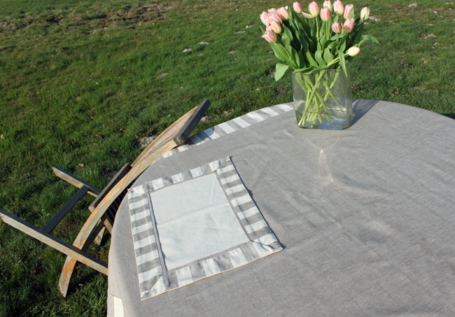 collection linge de table chambray ficelle
