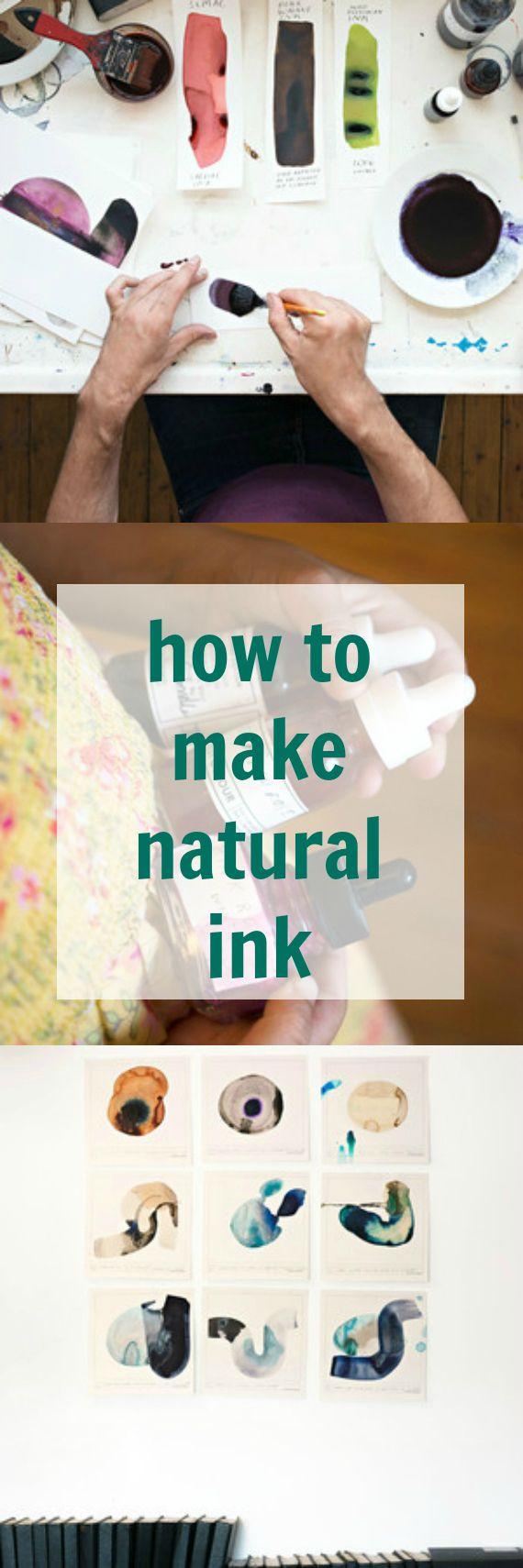 Learn how one artists uses materials gathered from nature to make his own ink -- then give it a try on your own. It'll completely change your crafting experience.