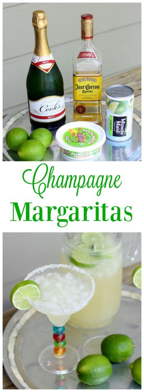 Champagne margaritas - Savvy Sassy Moms #summercocktails