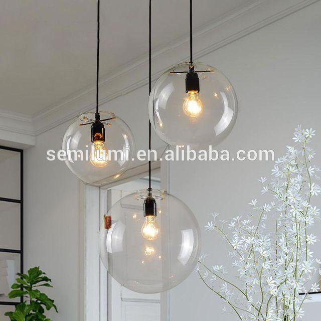 Ongekend Handgeblazen glazen bol hanglamp Selene Suspension Lamp HA-99