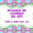 Permutations and Combinations Task Cards (16 task cards) Great for problem solving!