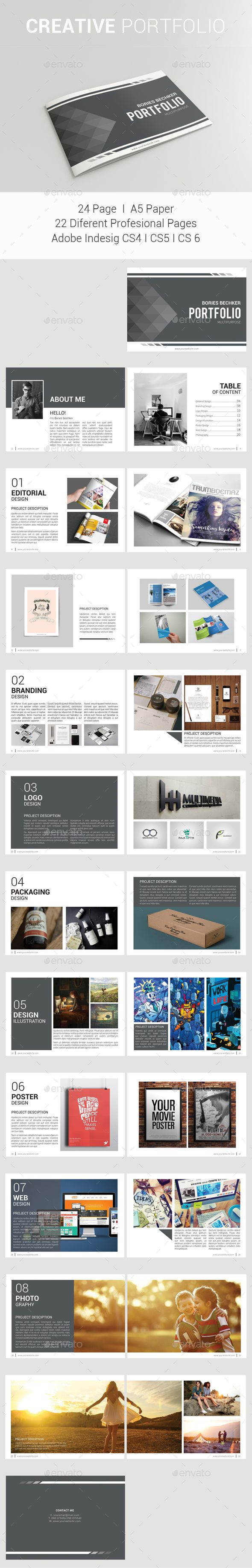 Creative Brochure — InDesign INDD #elegant #book • Available here → https://graphicriver.net/item/creative-brochure/17969187?ref=pxcr