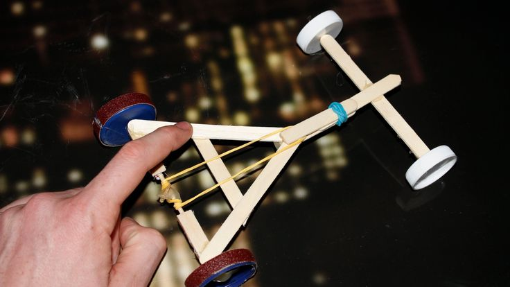 How To Make A Rubber Band Powered Car Homemade Toy