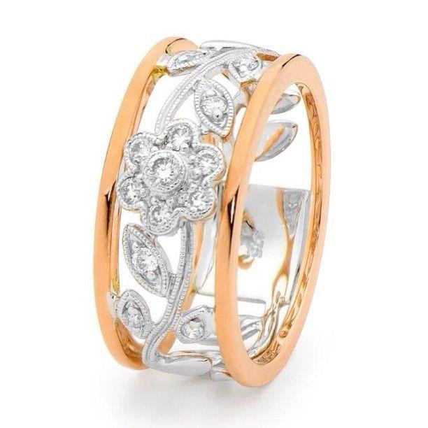 Beautiful diamond ring in floral design.  Fashionable.  Fun.  Gorgeous to wear.