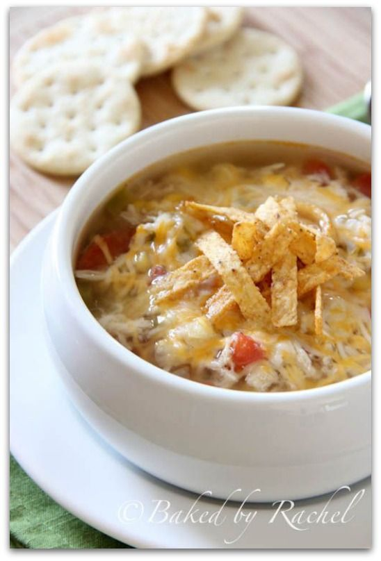 Slow cooker chicken tortilla soup - one of my all time favorites - can't wait to try this!