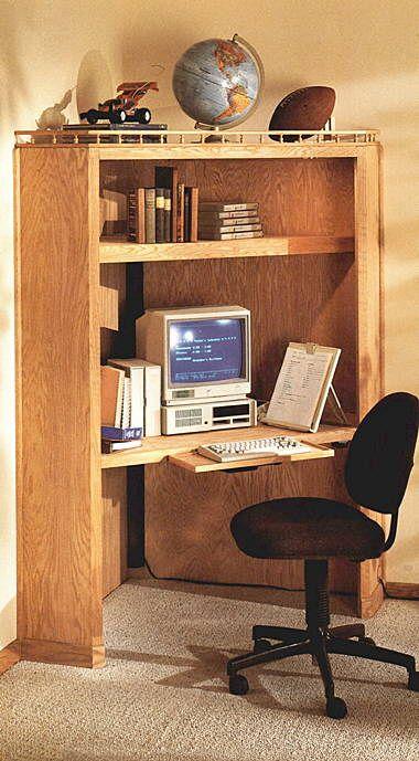 Free corner computer desk plans woodworking projects plans - Corner computer desk design plans ...