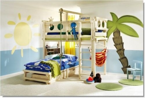 "Pirate Themed ""Play Bunk Bed"" by Woodland.    I may never see my child again!"
