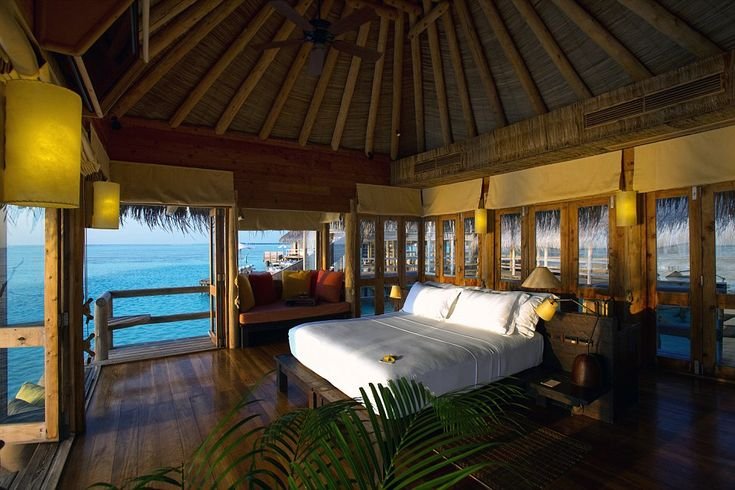 The Gili Lankanfushi luxury hotel and spa occupies a tiny island set in a sparkling lagoon and surrounded by thriving coral reefs, ideally located just twenty minutes' journey by speedboat from the international airport on Malé