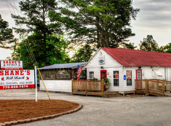 11 unexpectedly good places to eat in Georgia. Photo of Shane's Rib Shack off of 155 in McDonough, GA.