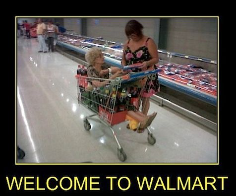 "Grandma in a Walmart Shopping Cart ""Stay Classy People Of Walmart"" - Funny Pictures at Walmart"