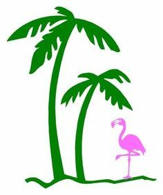 Pink Palm Tree Clip Art | Flamingos & Palm Trees on Pinterest | Flamingos, Flamingo Party and ...