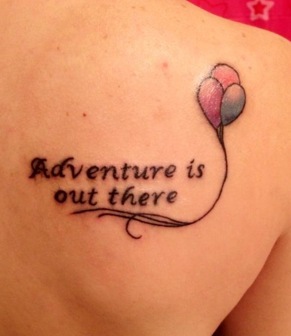 74 best disney ink images on pinterest disney tattoos for Adventure is out there tattoo