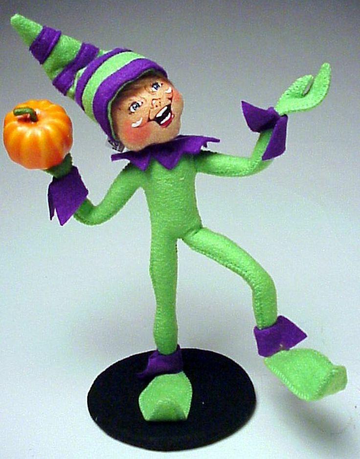 Annalee Halloween New for 2013 Mobility Doll 9 inch Pumpkin Chunkin Elf Laughing #AnnaleeMobilityDoll