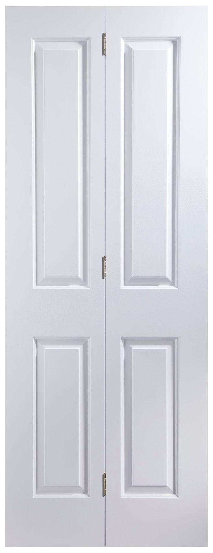 4 Panel Primed Smooth Glazed Internal Bi-Fold Door, (H)1950mm (W)750mm | Departments | DIY at B&Q