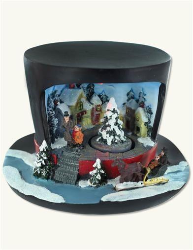 Top Hat Christmas Music Box