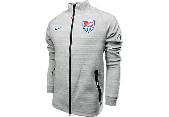 Nike USA N98 Tech Fleece Jacket - Grey Heather...Available at