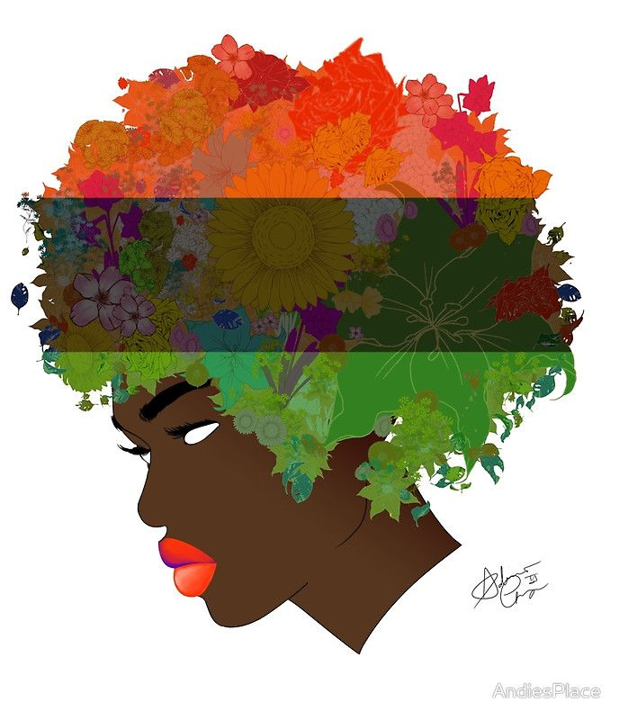 Pan-African Flag Flower 'Fro