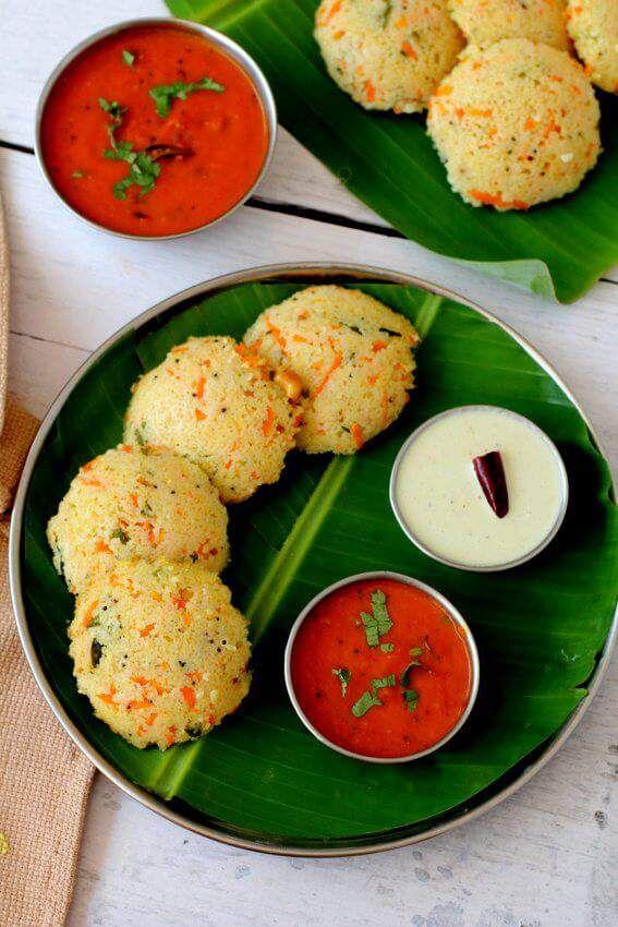 Wheat rava idli recipe, instant godhuma rava idli - http://allfood-recipes.com/wheat-rava-idli-recipe-instant-godhuma-rava-idli/