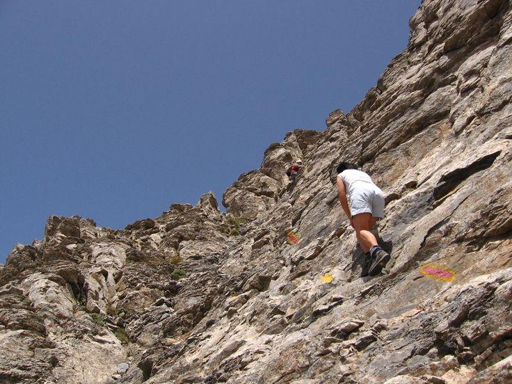 Climb last part of trail to summit of Mt. Olympus (Mytikas)- Greece #outdoorsgr