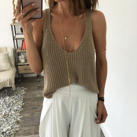 Jules Knit Top - Mocha | OHM BOUTIQUE