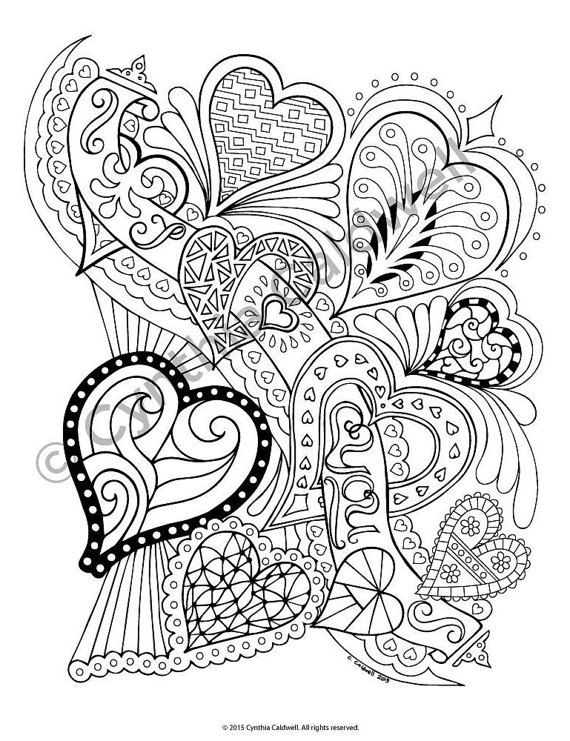 I Heart You Coloring Page Instant Download by YetAnotherMomShop